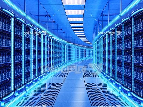 تصویر سالن سرور و هاست انتقال اینترنت و شبکه