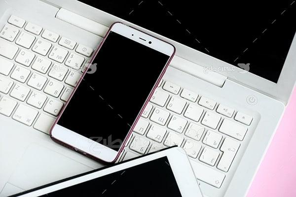 عکس لپ تاپ و موبایل