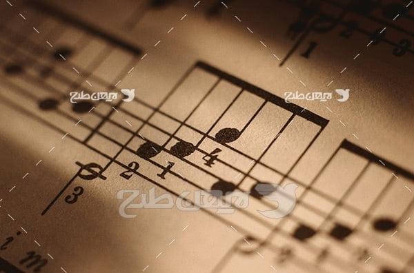 تصویر موسیقی نت
