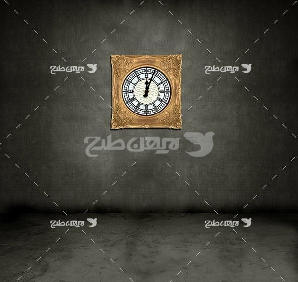 عکس بک گراند ساعت دیواری