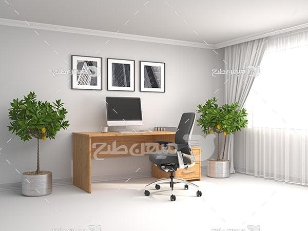 عکس میز و صندلی کامپیوتر