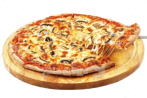 تصویر با کیفیت از پیتزا طعم قارچ