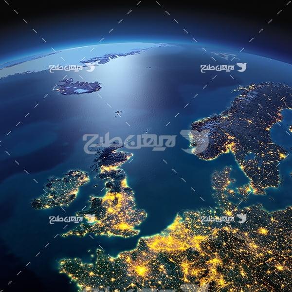 عکس زمین از فضا