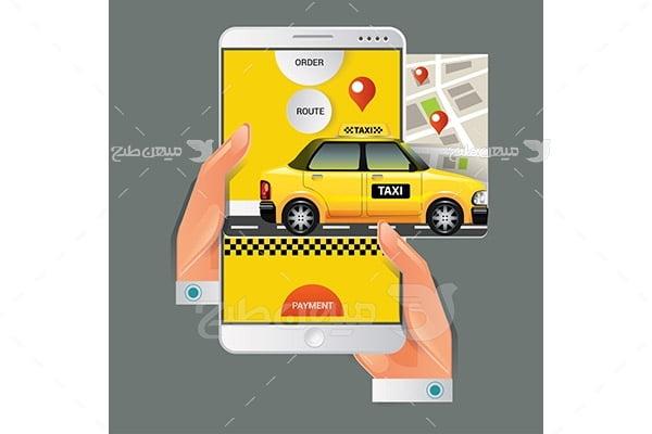 وکتور تاکسی اینترنتی