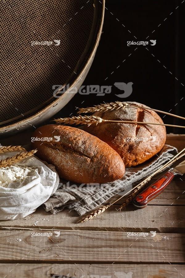 تصویر نان و گندم