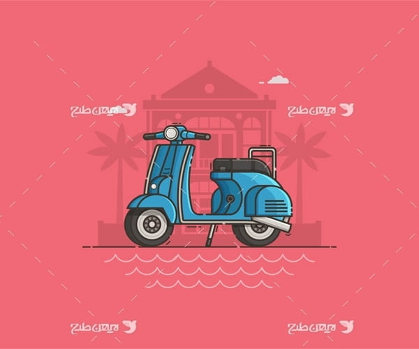 وکتور گرافیکی موتورسیکلت