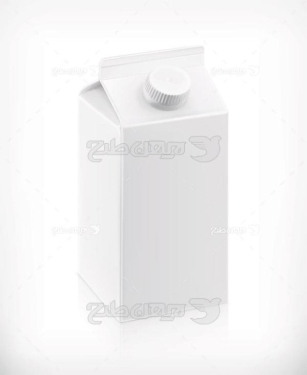 وکتور بسته بندی شیر