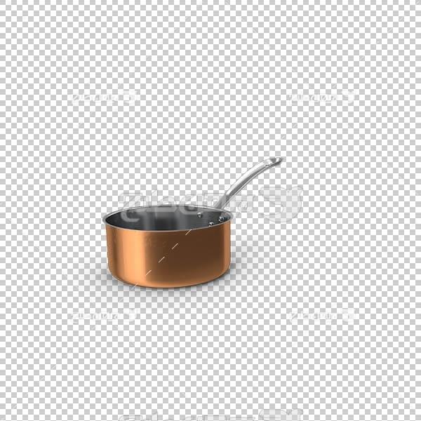 تصویر سه بعدی دوربری ظرف مسی