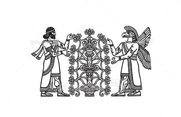 وکتور نماد باستانی هخامنشی
