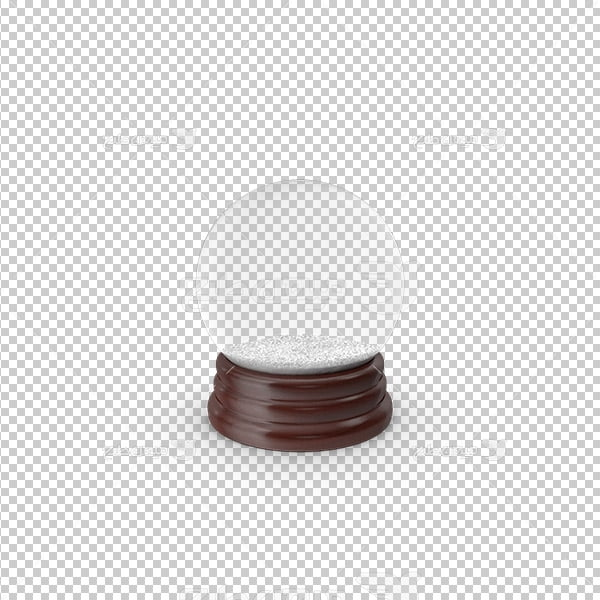 عکس برش خورده سه بعدی گوی شیشه ای