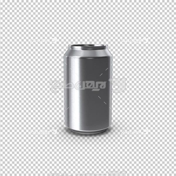 تصویر دوربری سه بعدی قوطی نوشیدنی