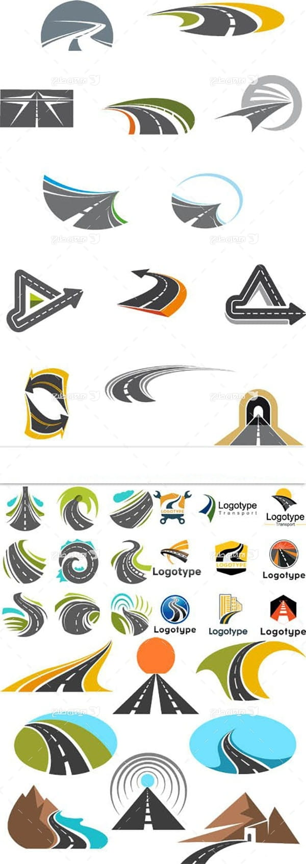 لوگو با موضوع راه و جاده سازی