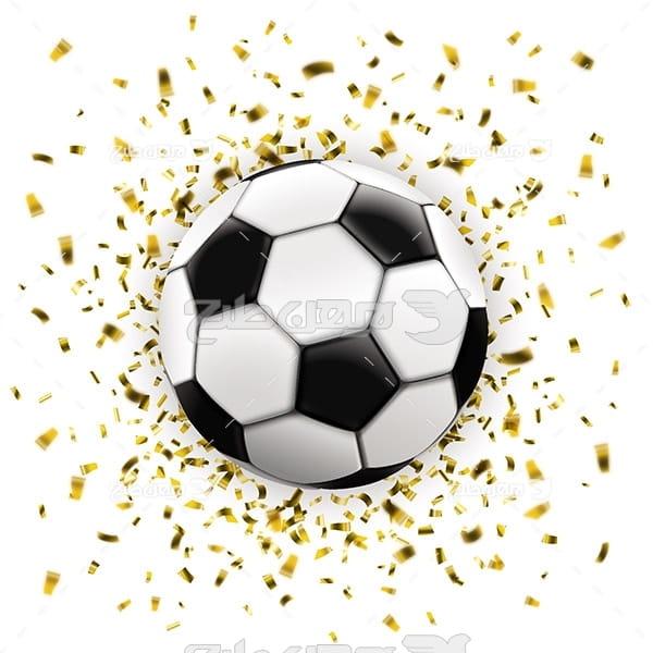 طرح وکتور ورزشی توپ فوتبال