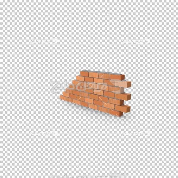 تصویردوربری سه بعدی دیوار آجری