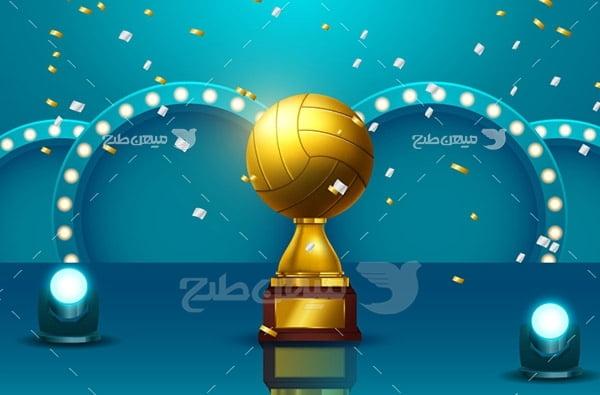 وکتور جام ورزشی والیبال