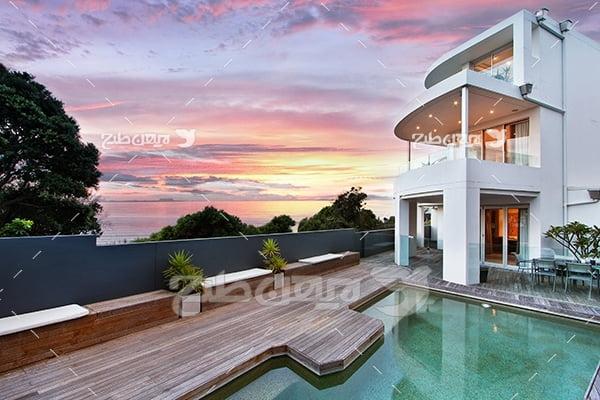 عکس خانه ویلایی با استخر