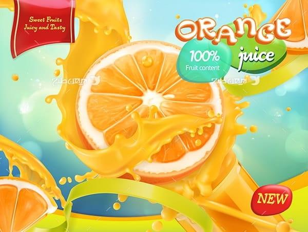 طرح وکتور و پوستر گرافیکی پرتقال