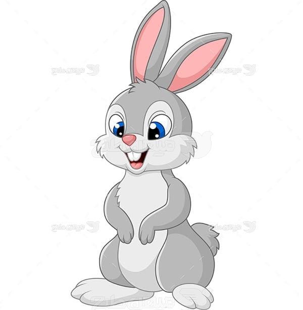 طرح گرافیکی وکتور خرگوش