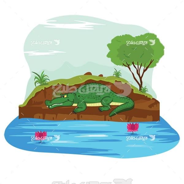 وکتور گرافیکی تمساح