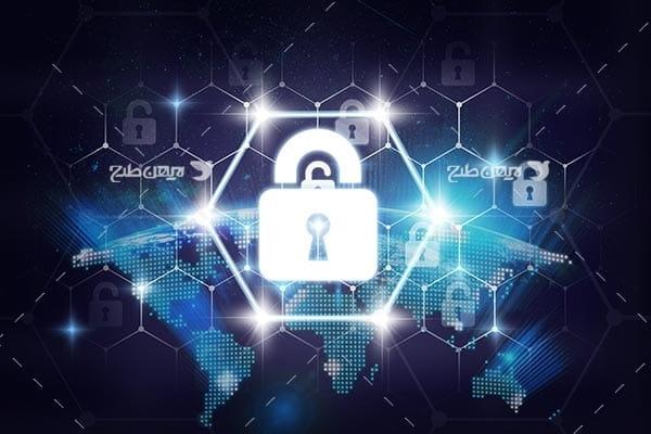 تصویر قفل و امنیت در فضای اینترنت