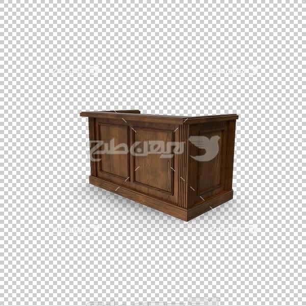 تصویر سه بعدی دوربری میز چوبی