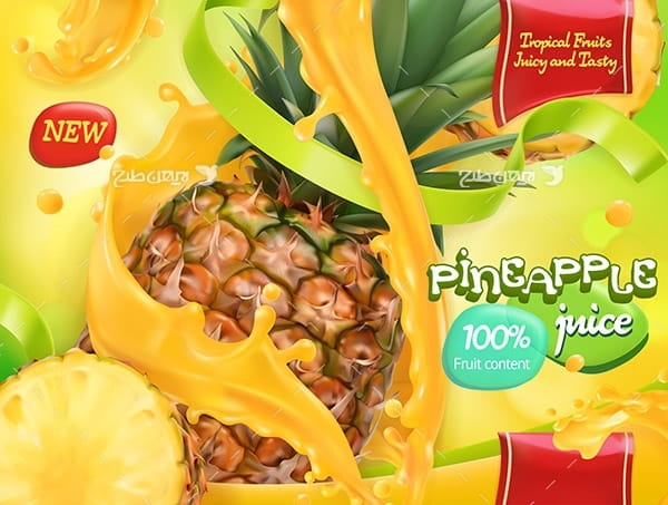 طرح وکتور و پوستر گرافیکی آناناس