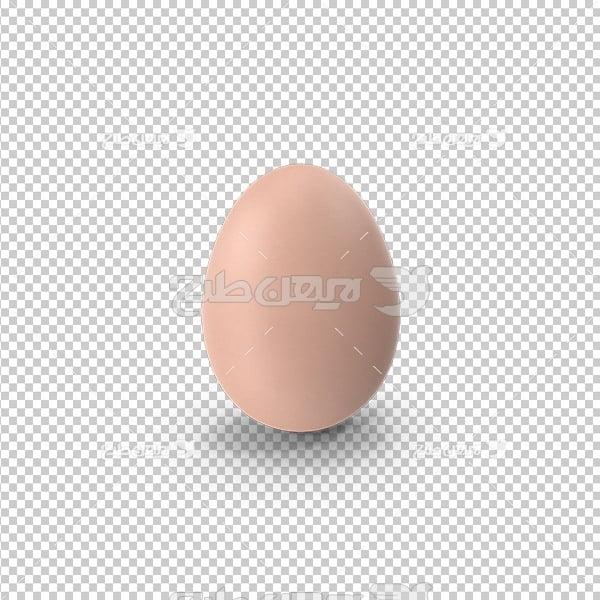 تصویر دوربری سه بعدی تخم مرغ