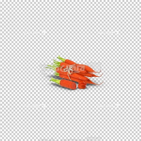 تصویر دوربری سه بعدی هویج