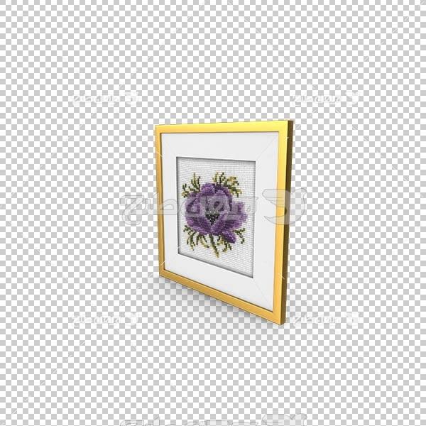 تصویر سه بعدی دوربری قاب گل