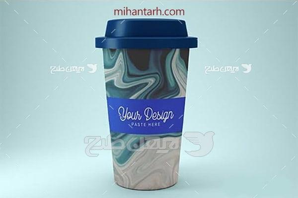 موکاپ لیوان نوشیدنی گرم