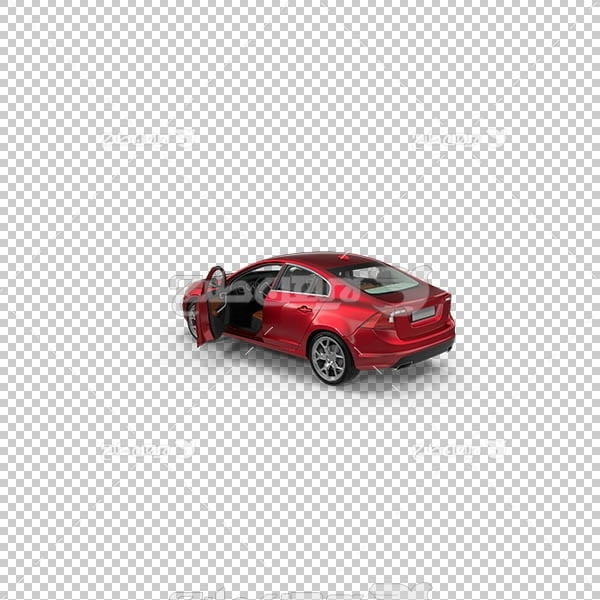 تصویر سه بعدی دوربری ماشین قرمز