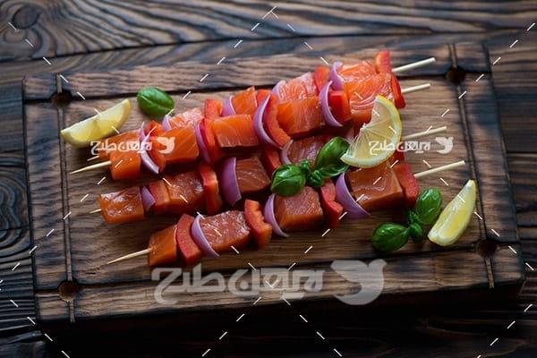 کباب خام گوشت ماهی