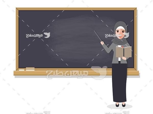 وکتور کاراکتر معلم زن