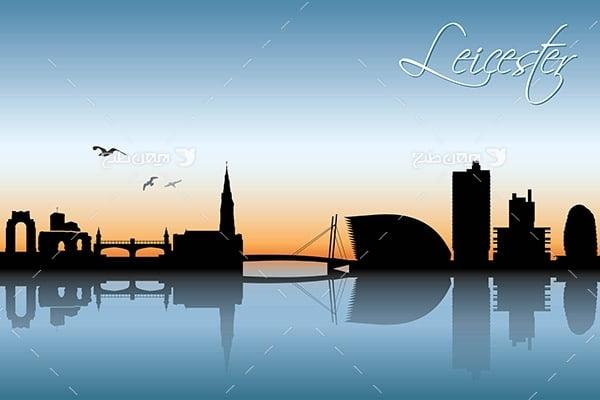 طرح گرافیکی وکتور ساختمان و شهر