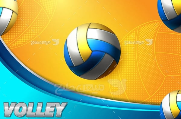 وکتور توپ ورزشی والیبال