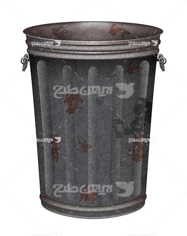 وکتور سطل آشغال