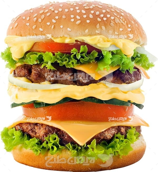 تصویر با کیفیت از ساندویچ دوبل برگر