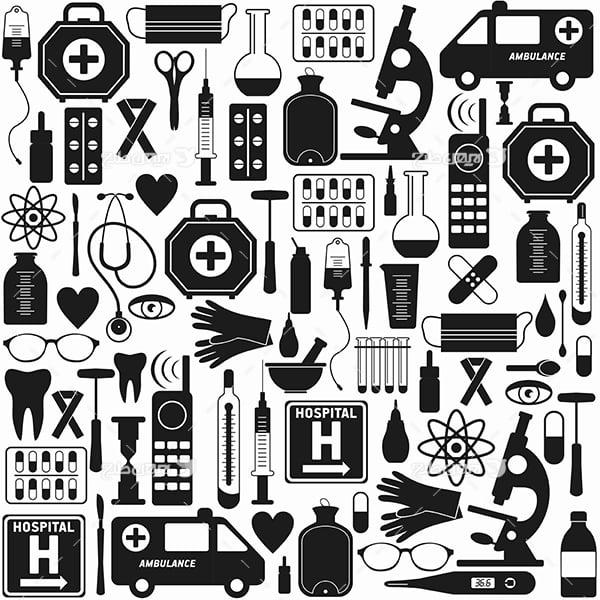 وکتور و عناصر پزشکی و درمان