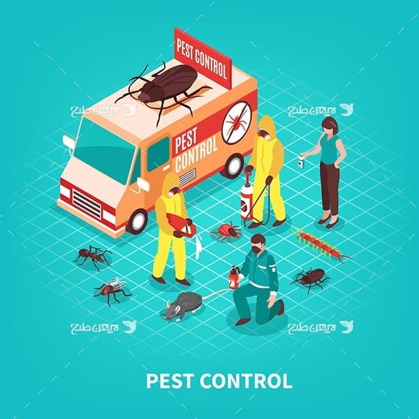 طرح وکتور کنترل حشرات