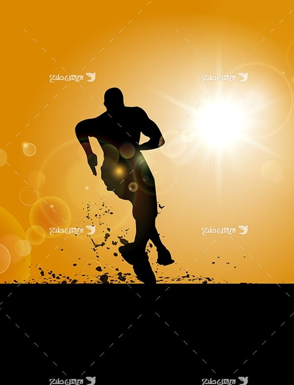 طرح وکتور گرافیکی مربوط به ورزش دو