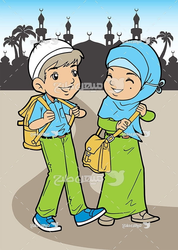 وکتور دانش آموز مسلمان