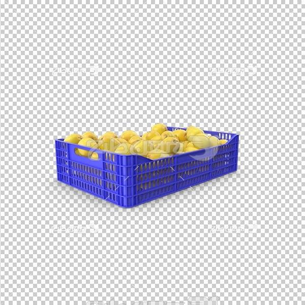 تصویر دوربری سه بعدی مواد غذای لیمو
