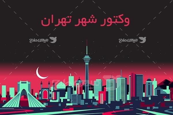 وکتور شهر تهران