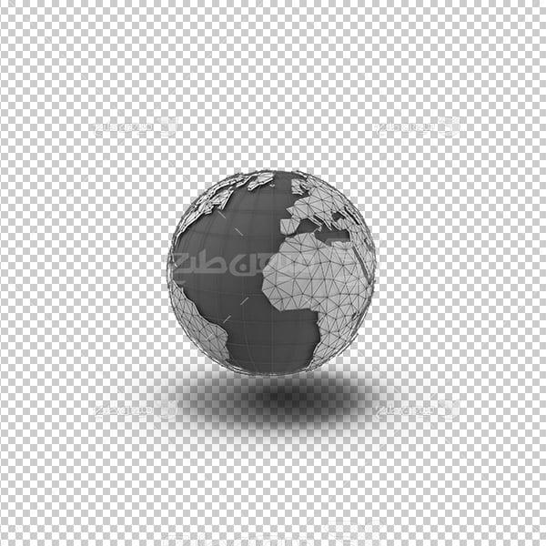 عکس برش خورده خطو وایرفریم کره زمین