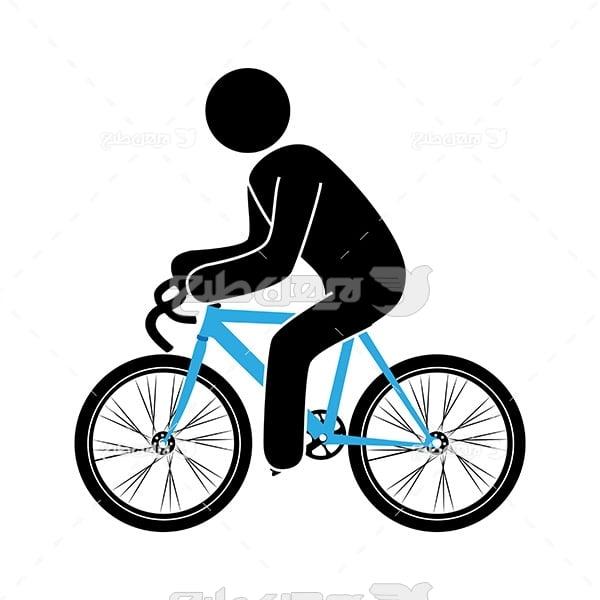 طرح وکتور ورزشی دوچرخه سواری