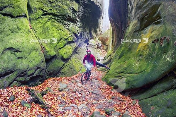 عکس دوچرخه سواری در طبیعت