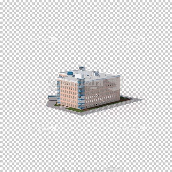 تصویر دوربری سه بعدی ساختمان بیمارستان