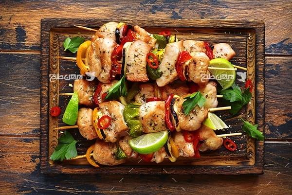 تصویر کباب و غذا و گوشت