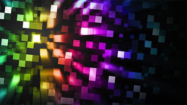 بک گراند ویدیویی مکعب رنگارنگ