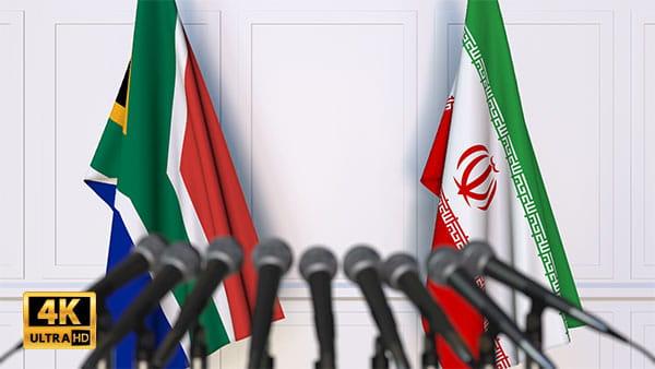 فوتیج ویدیویی مذاکره ایران و آفریقای جنوبی